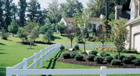 2 Rail Vinyl Fence | Wood Grain Vinyl Fence